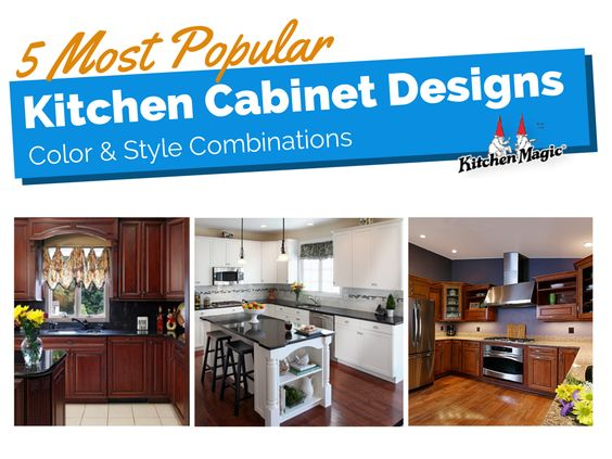 Kitchen cabinet designs are now a primary kitchen design element. Here are the 5 most popular kitchen cabinet color and style combinations.