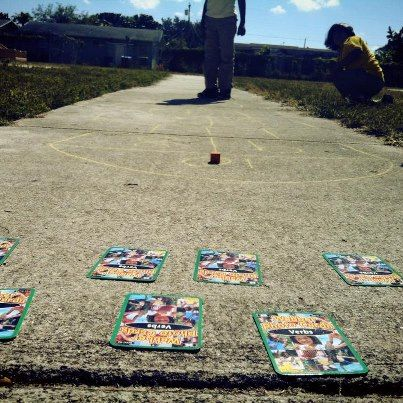 Hopscotch Verbs....Just a fun way to get the kiddos outside and playing a classic fun game and working on verbs.