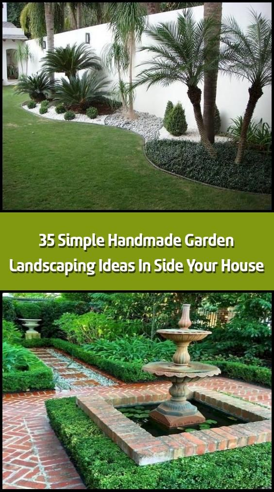 35 Simple Handmade Garden Landscaping Ideas In Side Your House Landscape Garden Design Can Be Very Pricy And You H Garden Landscaping Garden Design Garden