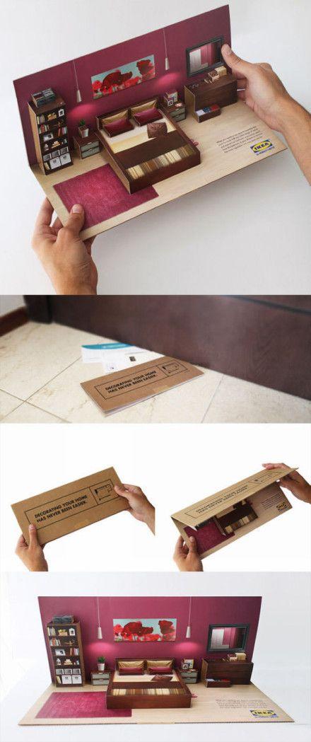 The creative leaflet designed by Brazilian designer Leo Rosa Borges for IKEA.