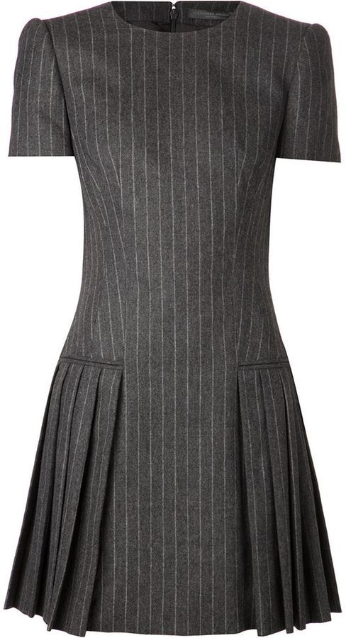 Alexander McQueen pinstripe dress