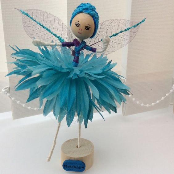 Flower Fairy Doll by UnderCaledonianSkys on Etsy: