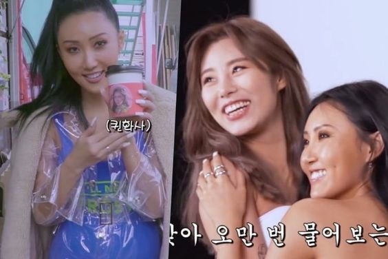 """Watch: Hwasa Gets Lots Of Support From Her Fellow MAMAMOO Members On Set Of Solo Debut """"TWIT"""" MV"""