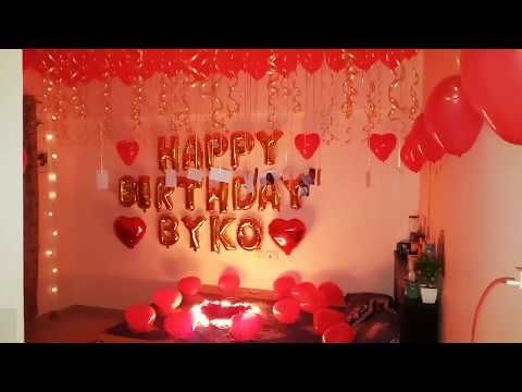 Birthday Party Romantic Room Decoration Surprise For Wife