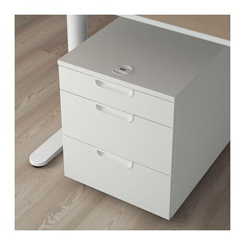 Galant Drawer Unit On Casters White 17 3 4x21 5 8 45x55 Cm Caisson A Tiroirs Meuble Rangement Et Ikea