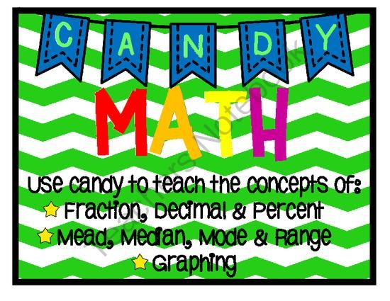 Candy Math Activities to Learn Fractions, Decimals, Percents ...