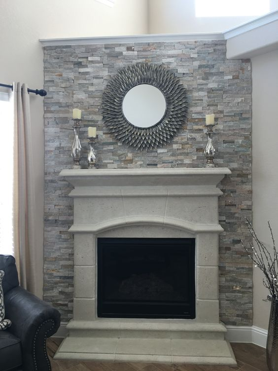 grey rock fireplace tile yahoo