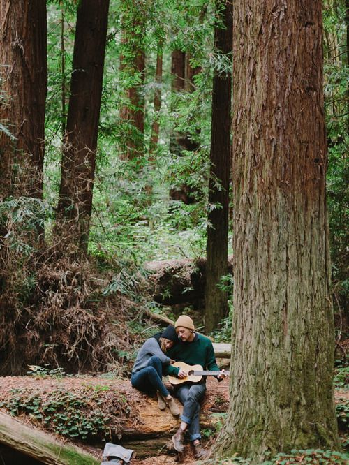 One day.....Guitar....in the woods...: