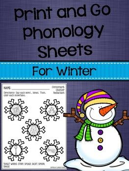 Print and Go Phonology Sheets for Winter | Activities, The o'jays ...
