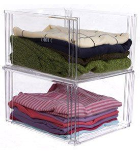 Crystal Clear Clothing Storage Bin these have open fronts