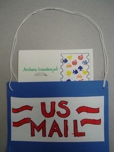 Community Helpers Crafts | Mail bag craft and many other community helper ideas (songs, math ...