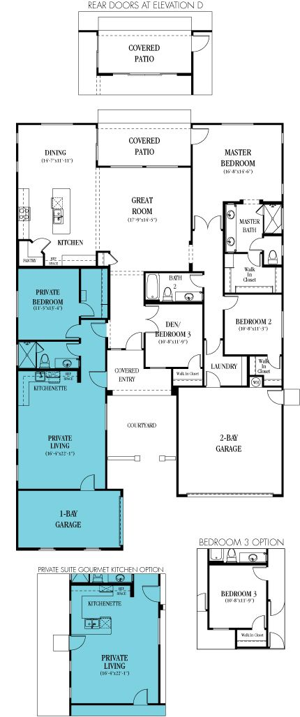 Home floor plans kitchenettes and living spaces on pinterest for Next gen homes floor plans