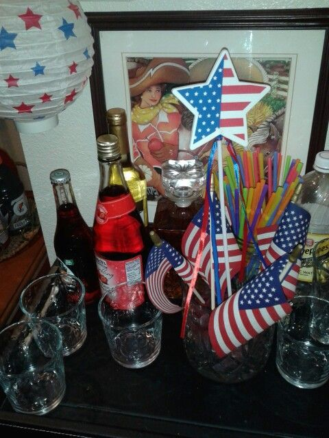 Memorial Day Beverage Station http://www.myjourneyback-thejourneyback.blogspot.com: