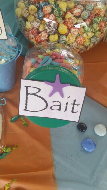 """Sour worms for """"bait""""...."""