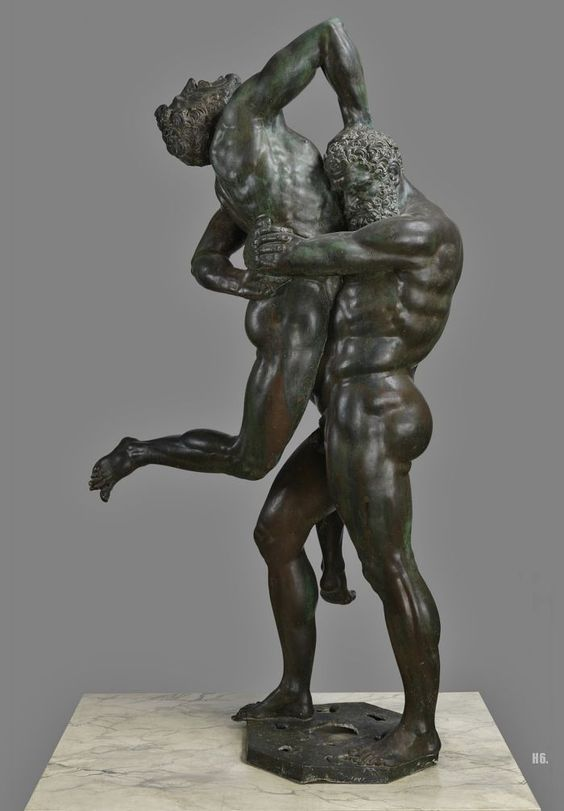 Hercules and Antaeus. 1538-41. Niccolo Tribolo. Italian. 1500-1550. bronze. http://hadrian6.tumblr.com