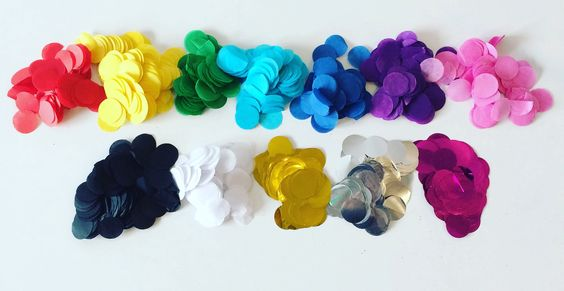 Our confetti colours!: