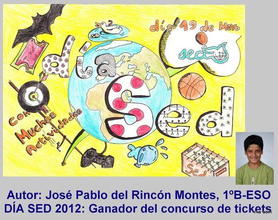 Cartel ganador del concurso de tickerts. José Pablo del Rincón Montes. 1º de ESO-B
