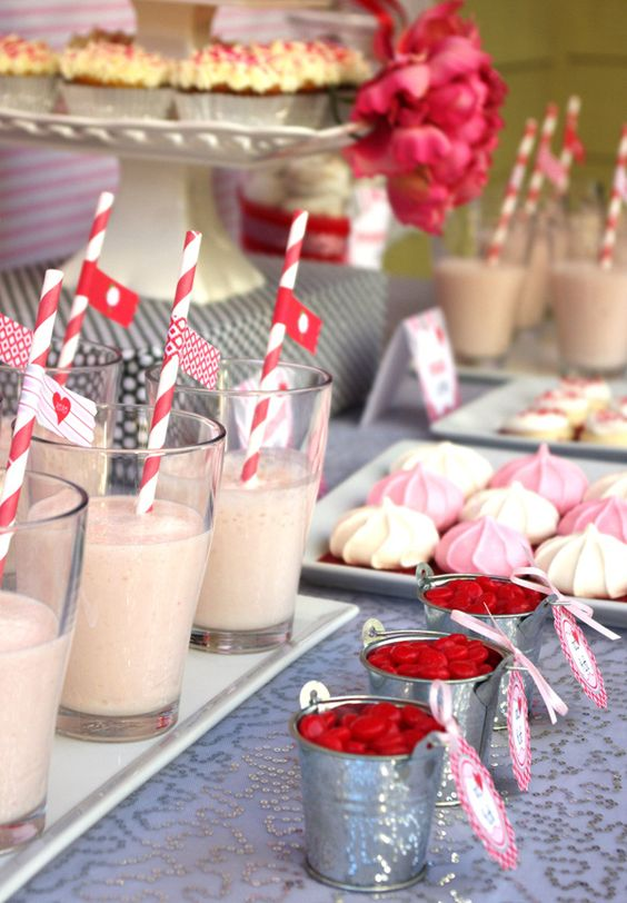 """""""Vintage Flower"""" Valentine's Day Sweets Table"""