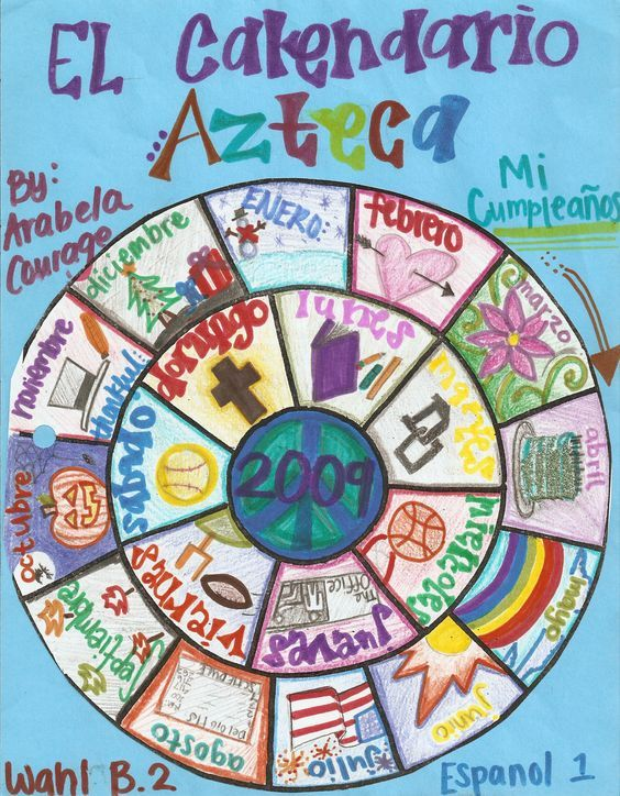 Calendario Azteca Senor Agee Learn Spanish Online Spanish Classroom Elementary Spanish