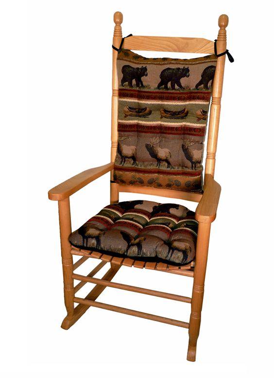 ... rocking_chair #cushions #bear #elk #canoe #interior_design #home_decor