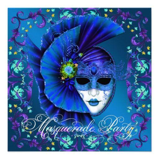 masquerade party invitations – Zazzle Party Invitations