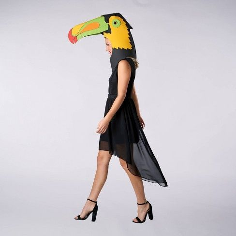 Adult Toucan Halloween Costume Mask One Size Hyde Eek Boutique Hyde And Eek Boutique Target Halloween Costume Mask Costume Mask Halloween Costumes