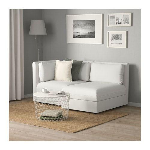 Vallentuna Modular Loveseat With Storage Murum White Width 73 1 4 Height 33 1 8 Order Today Ikea Vallentuna Love Seat Modular Sofa