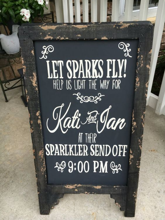 This customizable chalkboard type sign measures 32x17. Hand painted and…