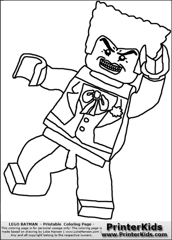 Lego batman, Jokers and Coloring pages on Pinterest