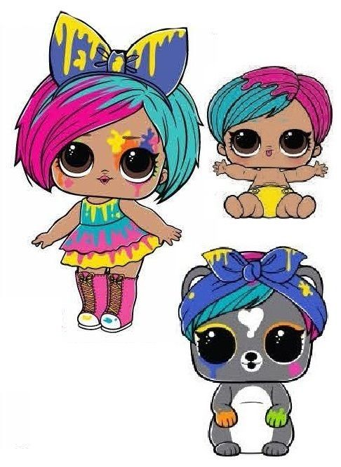 Splatters Lol Dolls Cute Cartoon Girl Digi Stamp