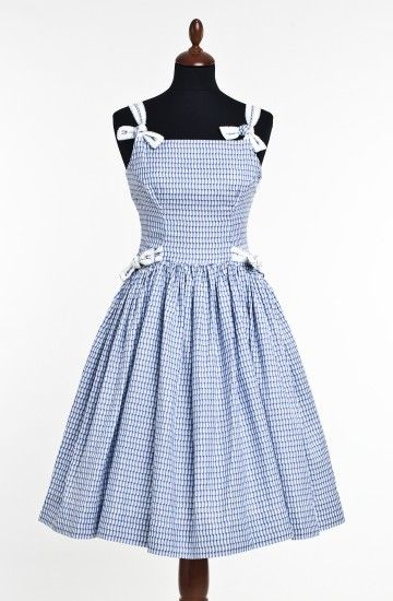 Margery Dress Blue White Check