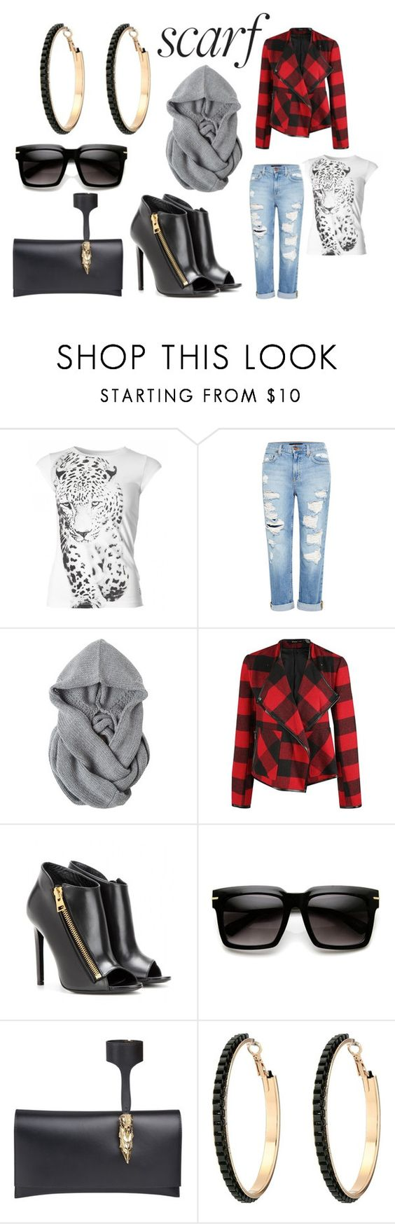 """""""Scarf"""" by penelopemiller ❤ liked on Polyvore featuring EA7 Emporio Armani, Genetic Denim, Toast, Dex, Tom Ford and GUESS"""