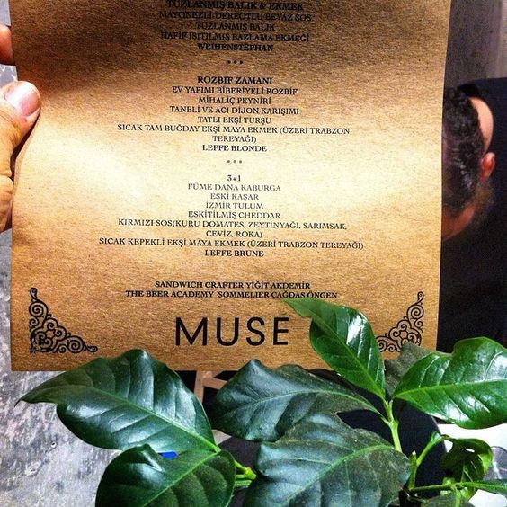 MUSE İstanbul Menü