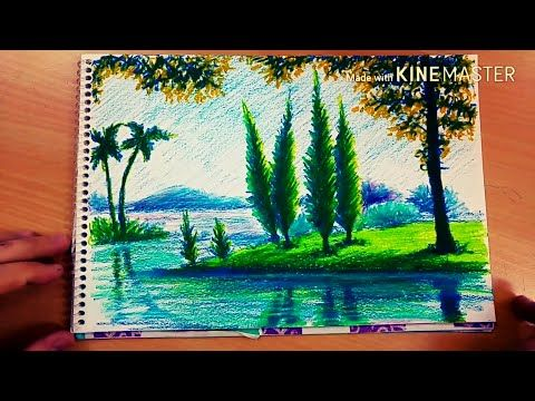 Pastel Boya Manzara 7 Youtube Oil Pastel Art Sunset Canvas Painting Africa Painting