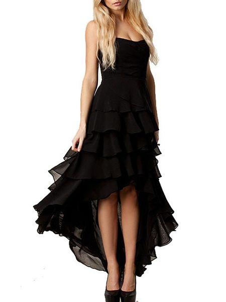 Chiffon Sweetheart Patchwork Plain Plus Size Maxi Dress | fashionmia.com