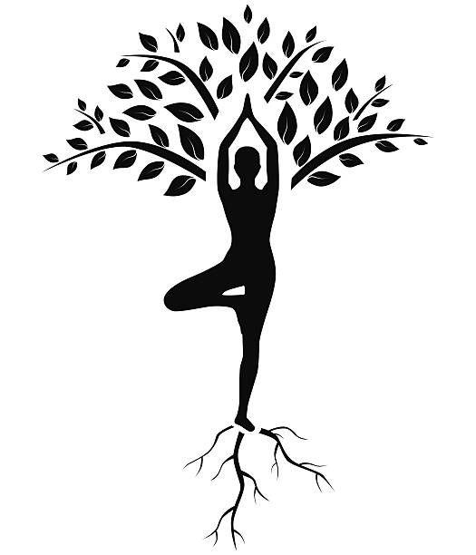 Royalty Free Yoga Tree Pose Clip Art Vector Images Download Free Best Quality On Clipart Email Yoga Tree Yoga Tree Pose Yoga Drawing
