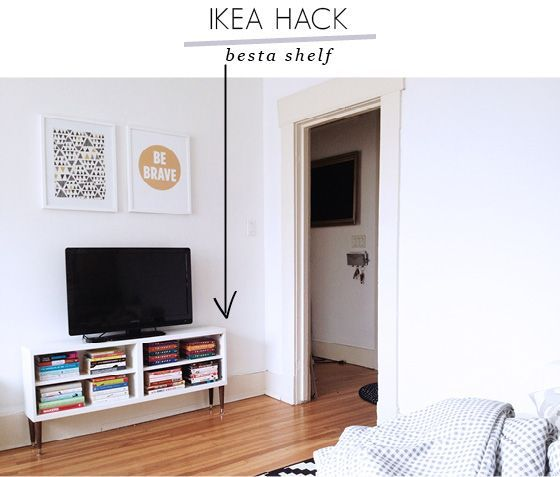 Little Lessy'S Besta Hack: A Leggy Little Flat-Screen Perch | Ikea
