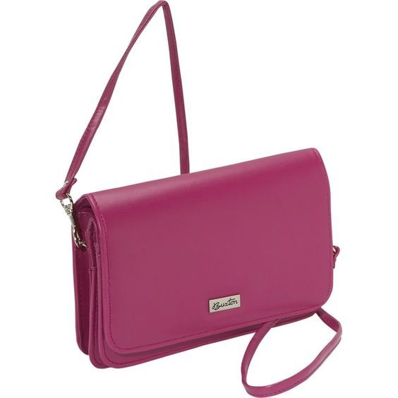 Pink Buxton Double-Flap Mini-Bag with Total Wallet Organization
