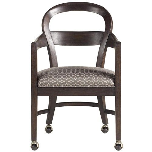 The classic portfolio modern dining club chair with for Dining chairs with casters