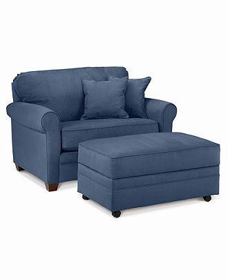 Twin Sleeper Chair & Ottoman set