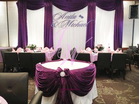 #Purple #Decoration for #Weddings