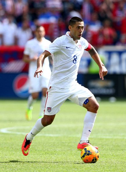 Clint Dempsey #8 of the United States
