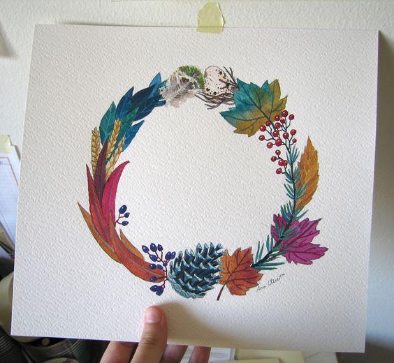An autumn wreath - Ana Oliveira