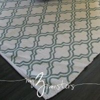 diy rug-something like this might be perfect for our all tile home! Seems shabby shiek! Love