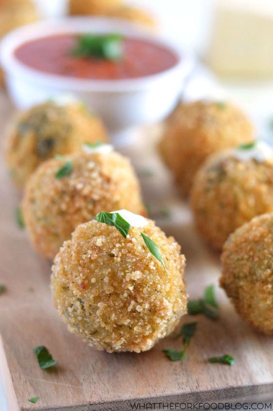 Spinach and Artichoke Risotto Balls (gluten free) from What The Fork ...