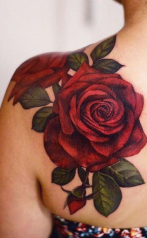 17 Tattoo Rose Shoulder Realistic Flower Tattoo Shoulder Rose Tattoos For Women Red Rose Tattoo