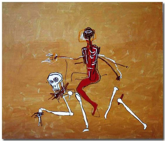 Jean-Michel Basquiat - Artist XXème - Underground Art  - Neo Expressionism - Riding with death, 1988