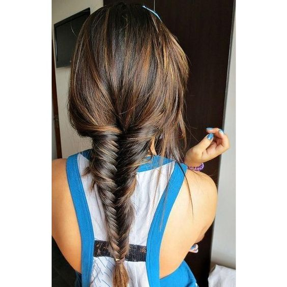 Hair How to do fishtail braid hairstyle? ❤ liked on Polyvore featuring accessories and hair accessories