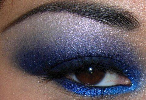 Bold Blue Eye Makeup