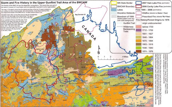Boundary Waters Maps BWCA BWCA Forest Fire Question Boundary - Bwca entry point map